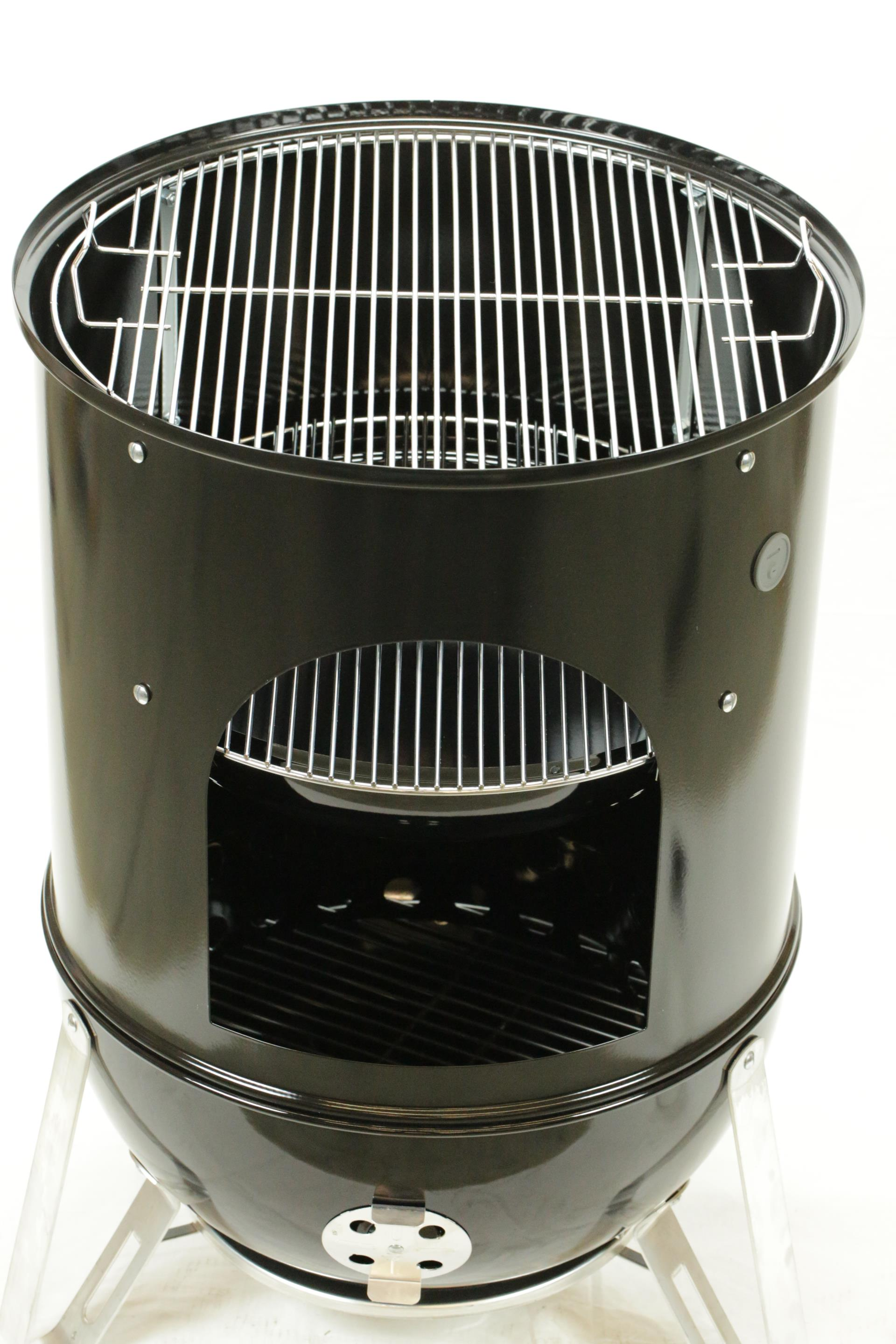 weber smokey mountain cooker 47 cm black raima grill. Black Bedroom Furniture Sets. Home Design Ideas